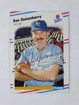 Dan Quisenberry 1988 Fleer Signed Autographed Kansas City Royals Card - $39.55