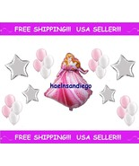 (¯`·. 21 Princess AURORA Sleeping Beauty Birthday Balloons! FREE Shippin... - $10.57