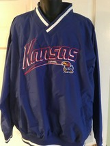 University of Kansas Jayhawks KU Majestic Nylon Jacket XXL Full Zip Lined NCAA - $14.85