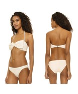 NWT KATE SPADE swimsuit M bikini 2PC set underwire cream Bow bandeau Geo... - $73.71