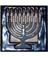 Chanukah Menorah Handpainted Art Tile - $20.00