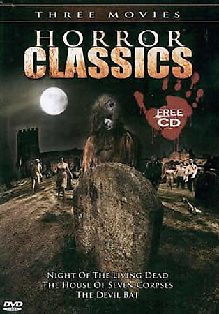 HORROR CLASSICS: Seven Corpses-Devil Bat-Night of The Living Dead-3 Film NEW DVD