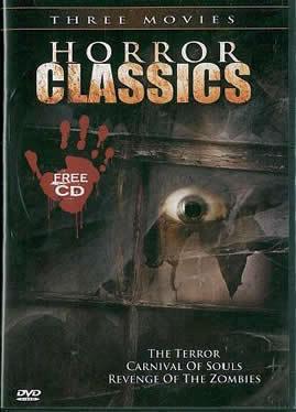 HORROR CLASSICS: Terror- Carnival of Souls- Revenge Zombiess- 3 Films-  NEW DVD