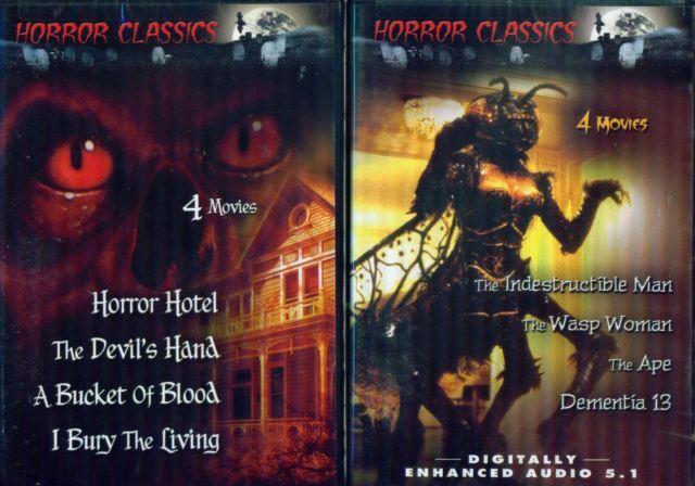 HORROR CLASSICS Volumes 1-2-3-4-5: Terrifying 21 Film Set - NEW 5 DVD
