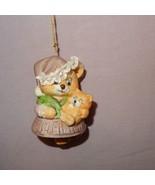"Mother Cat Kitten Bell Ornament Porcelain Jasco Taiwan Vintage 3"" - $10.23"