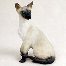SIAMESE CAT Figurine Statue Hand Painted Resin Gift - $16.74