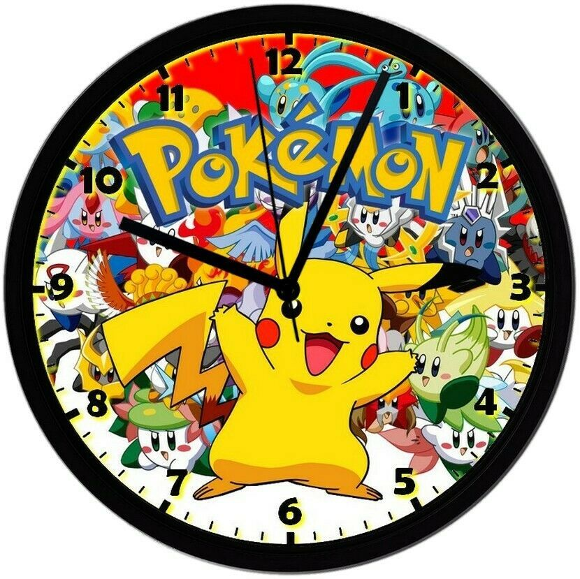 Primary image for Pokémon! Exclusive 8in. Unique Homemade Wall Clock, Battery Included, SHIPS FREE
