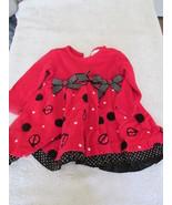 Rare Editions Ladybug Dress Red 12 Mos - $6.99