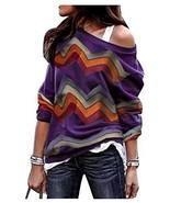 Womens Geometric Aztec Printed Sweaters Rainbow Colorblock Sweatshirts P... - $17.23