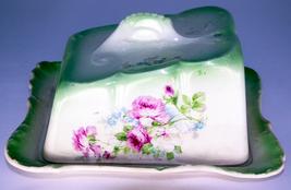 Antique (1870-1920) Royal Bonn Porcelain Floral Lidded Cheese or Butter ... - $19.95