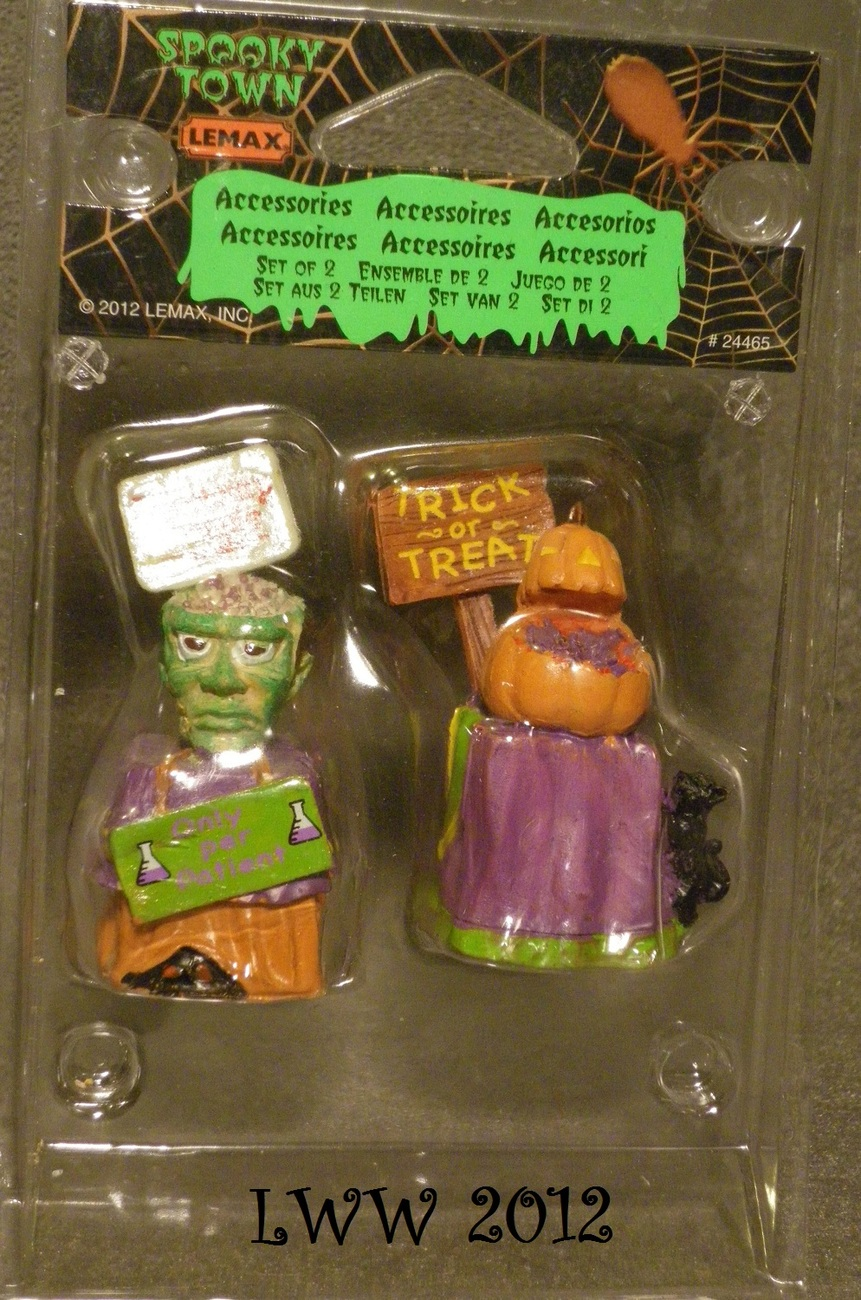 Halloween Lemax Spooky Town Village Trick Or Treat Containers Set of 2 Figures