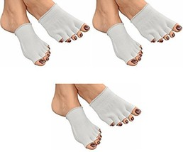 Bcurb Toe Gel White Socks Moisturizes Skin Gel Lined Compression Toe Sep... - £25.05 GBP