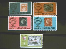 Nicaraqua Set of 5 Stamps MINT -canceled - MNH Free Shipping # 002129 - $1.68