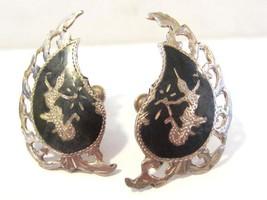 Siam Antique vintage sterling silver 925 screw back earrings - $25.00