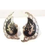 Siam Antique vintage sterling silver 925 screw back earrings - $25.00