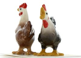 Hagen Renaker Miniature Chicken Leghorn Black Rooster & Red Hen Set image 4
