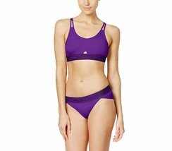 Calvin Klein Iron Strength Low Impact Logo Sports Bralette Purple QF1537-501 NWT image 2