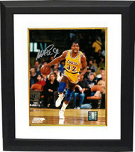 Magic Johnson signed Los Angeles Lakers 8x10 Photo Custom Framed (yellow... - $123.95