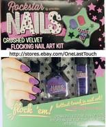 ROCKSTAR by SPRINKLES 3pc Flocking CRUSHED VELVET Nail Polish+Dust PURPL... - $8.10