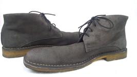 Johnston & Murphy Mens Ankle Boots Chukka 13 M Gray Suede Sheepskin Crep... - $60.14