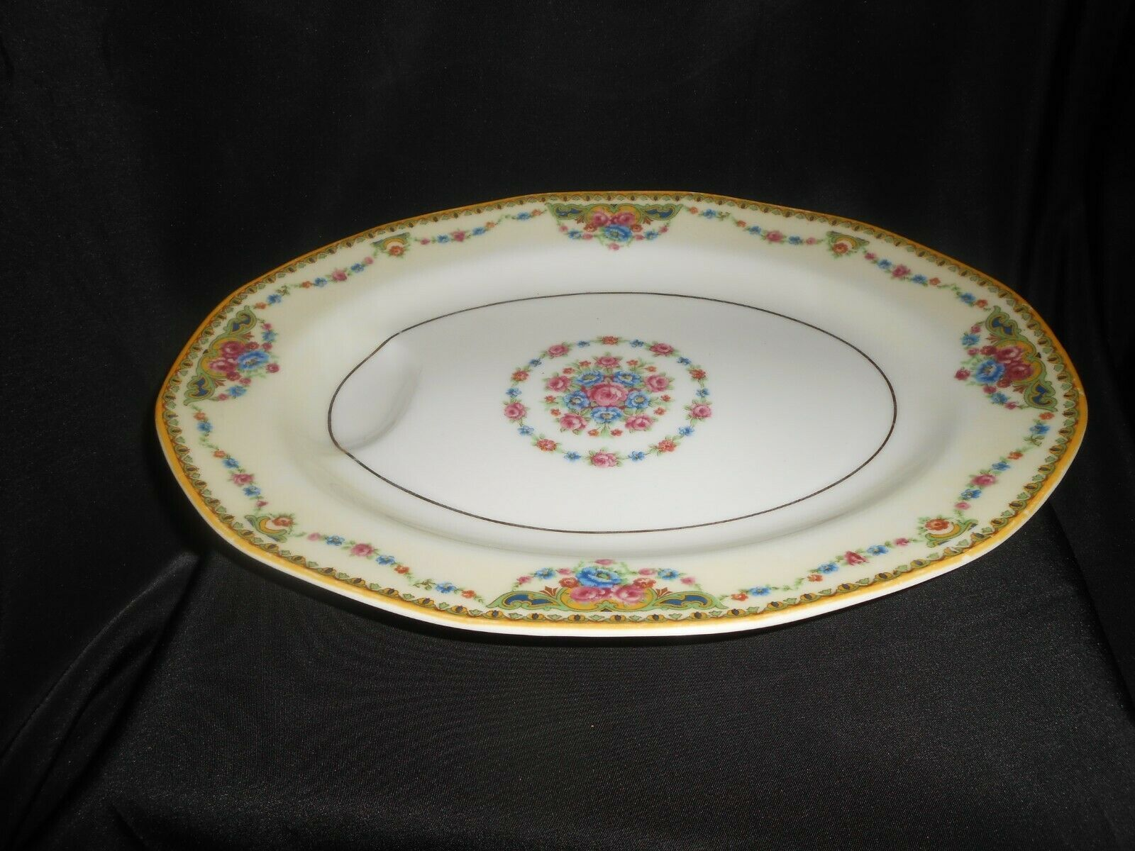Theodore Haviland Limoges Meat Platter Tray Small Flower Swags 1920-1936