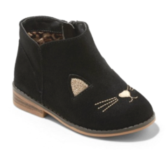 Cat & Jack Girls' Esylit Kitty Cat Black Gold Fashion Boots Toddler 10 US NWT image 1
