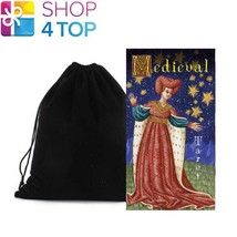 MEDIEVAL TAROT DECK CARDS ESOTERIC TELLING LO SCARABEO WITH VELVET BAG NEW - $25.53
