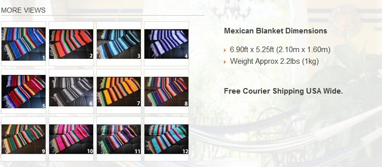 Authentic Mexican Blanket - Free Shipping