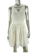 JOIE Porcelain White CRENEAU Eyelet Sleeveless Fit-n-Flare Dress NWT $33... - $34.29