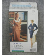Misses 12-16 Top with notched shawl collar and Skirt Vogue 7745 Classics... - $5.00