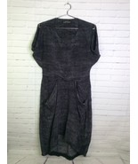 AllSaints Silk Snake Print Gray Draped Front Slouch Dress With Pockets S... - $51.18