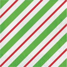 Peppermint Party 16 Ct Luncheon Napkins Christmas Holiday Office - $3.59