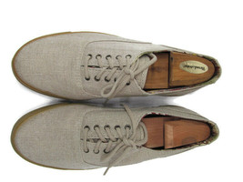 Cole Haan Mens Beige Canvas Sporting Oxfords Size US 10 M - $37.83