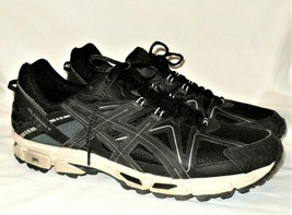 Asics Gel Kahana Mens Size 16 Running Shoes Sneakers Black Silver T6LON - $42.99
