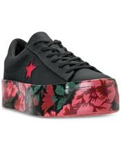 Converse Womens One Star Platform Ox Canvas 561766C Black/Cherry  Sizes ... - $79.99