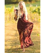 Women Floral Lace Overlay Maxi Dress Boho Cocktail Summer Spring Romper - $59.00