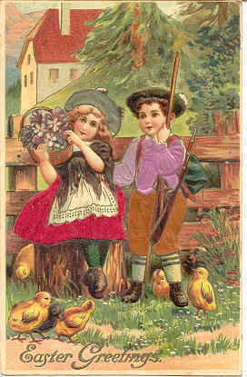 Easter Flowers 1910 Post Card.