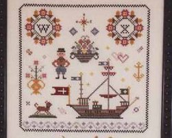 Nostalgia VIII sampler cross stitch chart Rosewood Manor