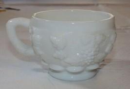 Westmoreland Milk Glass coffee tea cup Grape Vine design white Vintage 3... - $13.35