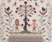 Nostalgia VIIII sampler cross stitch chart Rosewood Manor