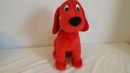 "KOHLS 13""PLUSH RED CLIFFORD DOG STORYBOOK CHARACTER,SOFT VELOUR,SOFT EYE... - $7.91"