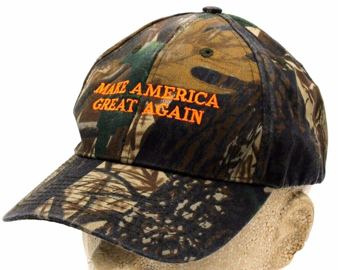 Primary image for TRUMP CAMO EMBROIDERED CAP MOSSY OAK 2016 MAGA Adult Size Collectible