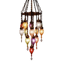 JK036 Turkish Ottoman Murano Glass Chandelier Lamp   - $1,879.99