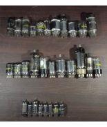 A box of 30 Vintage electronic vacuum tubes Sylvania, GE, RCA, Zenith, T... - $100.00