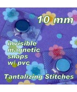15 Hidden Sew In Magnetic Snaps  (10 MM) with PVC - $11.48