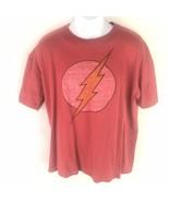 DC Mens The Flash Lightening Short Sleeve Tee T Shirt Red XL - $14.84
