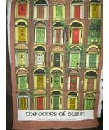 The Doors Of Dublin Linen Tea Towel By Fingal - $13.27