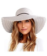 Wide Brim Sun Hats for Women Floppy Summer Beach Hat UV UPF Travel Packa... - $17.06