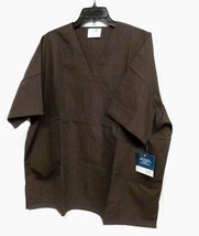 Brown Scrub Top 4XL Adar Uniforms Solid V Neck 3 Pocket Nurses 601 Unise... - $16.46