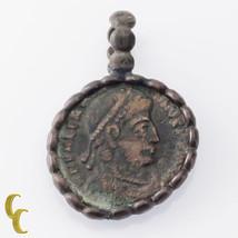 Ancient Moneda en Plata Engaste Colgante - $129.27